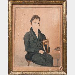 Joseph Partridge (American, 1792-1833)      Portrait of Joseph Chapman