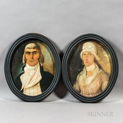 Continental School, 18th Century       Portraits of a Man and Woman