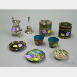 Group of  Sterling and Continental Silver Flatware, Tableware and Asian Cloisonne