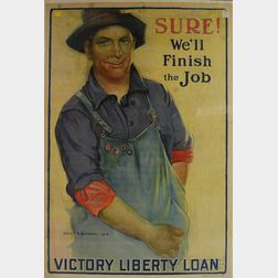 WWI Gerrit A. Beneker Sure! We'll Finish the Job   Poster