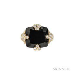 18kt Gold, Onyx, and Diamond Ring, Judith Ripka