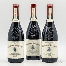 Chateau de Beaucastel Chateauneuf du Pape 2007, 3 bottles