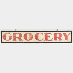 "Painted ""GROCERY"" Sign"