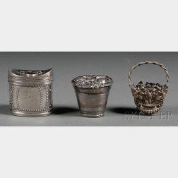 Three Continental Small Silver Boxes
