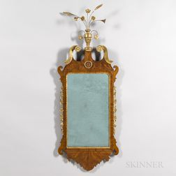 Chippendale Mahogany Veneer and Parcel-gilt Mirror