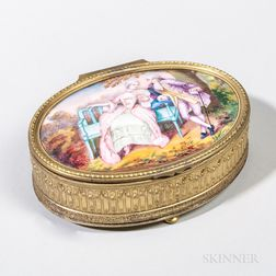 Limoges-type Enamel Box and Cover