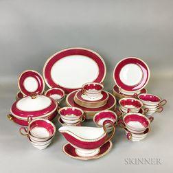 """Fifty-two Pieces of Wedgwood """"Ulanda Powder Ruby"""" Tableware"""