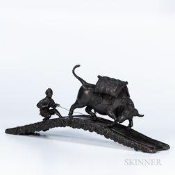 Bronze Okimono of an Ox
