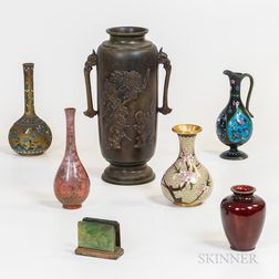 Eight Chinese Metal Items
