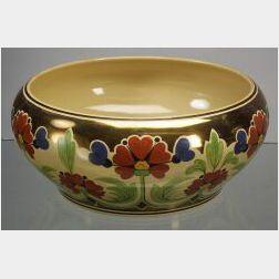 Wedgwood Copper Lustre decorated Cane Glazed Bowl