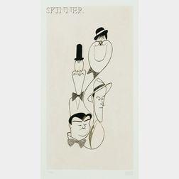 Albert Hirschfeld (American, 1903-2003)      Classic Comedians
