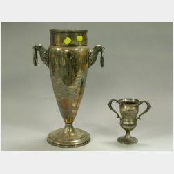 Pairpoint Silver Plated Westminsters Secretarys Trophy Cup, 1933-1944, a Silver Plated 1908 Fresno Kennel Club Cocker Spaniel Tribune