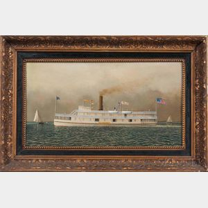 American School, 20th Century      Portrait of the Paddlewheel Steamer Newburgh