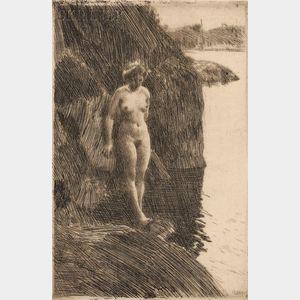 Anders Zorn (Swedish, 1860-1920)      Precipice