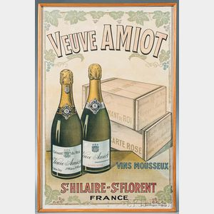 """Veuve AMIOT"" Advertising Poster"