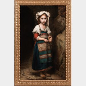 Italian School, 19th Century      Young Girl in Peasant Costume
