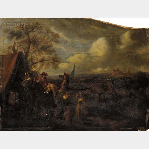 Manner of Philips Wouwerman (Dutch, 1619-1668)      At Camp