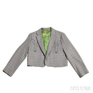 Little Jimmy Dickens     Gray Check Nudie Bolero Jacket