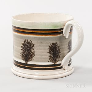 Mocha Pearlware Quart Porter Mug