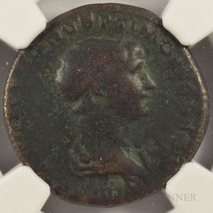 Five Ancient Roman Coins of Four Rulers