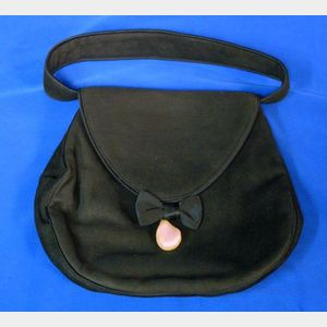 Black Suede Evening Bag, Balenciaga, Paris