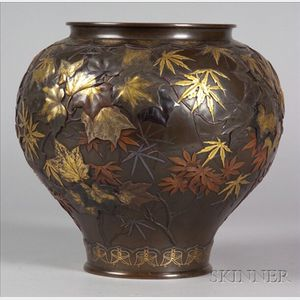 Sold for: $64,625 - Mixed-Metal Vase