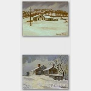 Two Framed Oil on Canvas/Canvasboard Views of Manchester, Vermont by   Lawrence R. McCoy (American, b. 1888)