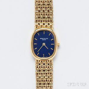 "Lady's 18kt Gold ""Ellipse"" Wristwatch, Patek Philippe"