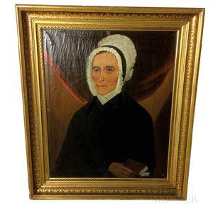 Attributed to William Matthew Prior (American, 1806-1873)       Portrait of Mrs. Mary Merrill York Blake