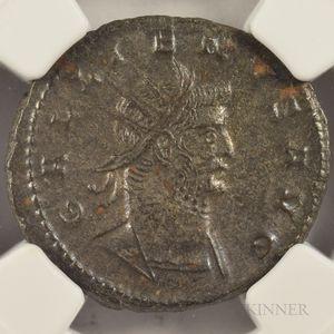 Four Ancient Roman Double Denarius Coins of Gallienus