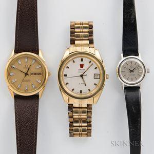 Three Omega Wristwatches