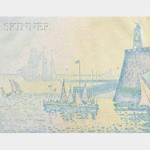 Paul Signac (French, 1863-1935)      Le Soir (Abend - La Jetée de Flessingue)