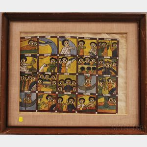 Ethiopian School, 20th Century      The Story of King Solomon and Queen Sheba.