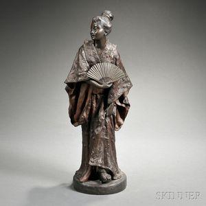 Gaston Leroux (French, 1854-1942)       Bronze Figure of a Geisha