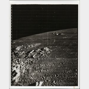 Lunar Orbiter, Various Missions, 1964-1966, Five Photographs of the Surface of the Moon.