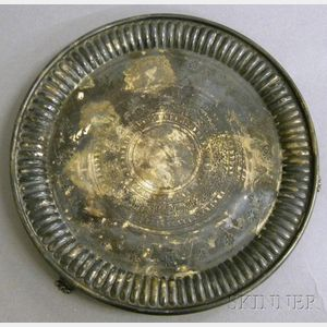 Victorian Silver Footed Salver