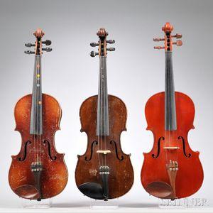 Three Small Modern Violins