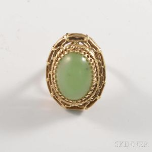 14kt Gold and Jadeite Ring