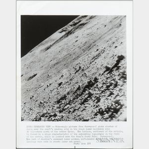 Lunar Orbiter, Various Missions, 1964-1968, Five Photographs of the Surface of the Moon.