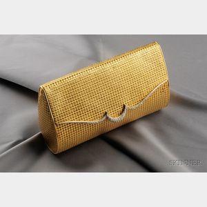 18kt Gold and Diamond Handbag