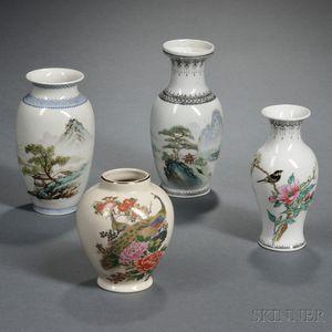 Four Porcelain Vases