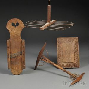 Four Woodenware Household Items