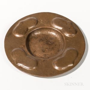 Gustav Stickley Hammered Copper Dish
