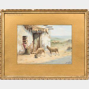 Seth Corbett Jones (American, 1853-1929)      Sheep Scene
