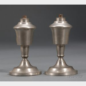 Pair of Whale Oil Lamps