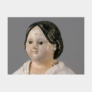 Large Patent Head Greiner Papier-mache Doll