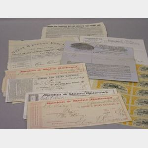 Collection of Assorted 19th Century Railroad Documents