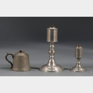 Three Whale Oil Lamps