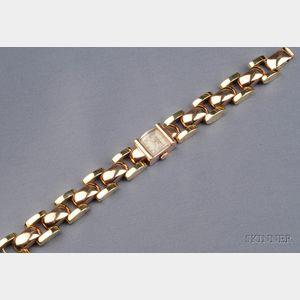 Lady's Retro 14kt Bicolor Gold Wristwatch, Jules Jurgensen