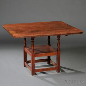 Maple and Pine Hutch Table